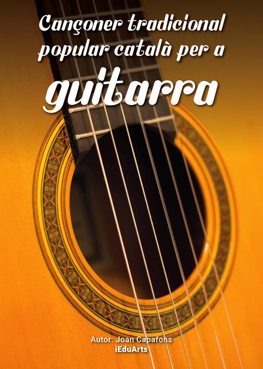 Llibre de partitures guitarra cançons catalanes tradicionals populars infantils
